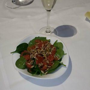 Ensalada de Espinacas-tomate-pipas